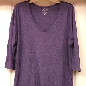 Women's Old Navy XXL Long Sleeve Purple Blouse